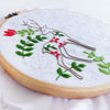 "Two Christmas Deer - 6"" embroidery kit"
