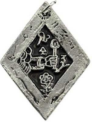Discover Treasures Amulet. 1 1/2 x 1""