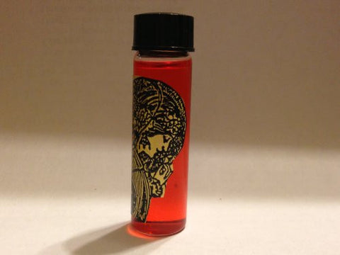 """Q"" Scented Red Magickal Oil 2 Dram Bottle. Risky and raw, this formula is only for the most daring. It has no boundaries, no limits, and no judgement. It is best when used by people who have forgotten the excitement of passion and intimacy."