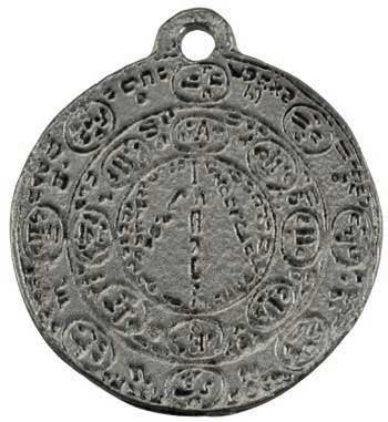 Seal of Barbuelis Amulet. 1 1/4""