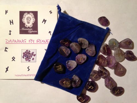 Amethyst Rune set by The Spell Works. Bring new energy to your divination, magic, and meditation practices with runes.