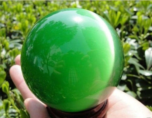 40mm Green Tigars Eye Crystal Ball This crystal ball has been a timeless  icon of divination and fortune telling for years upon years  Includes Stand