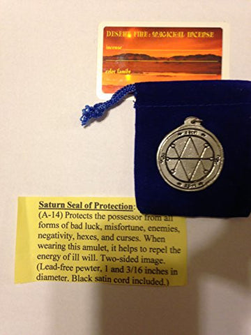 Saturn Seal of Protection. 1""