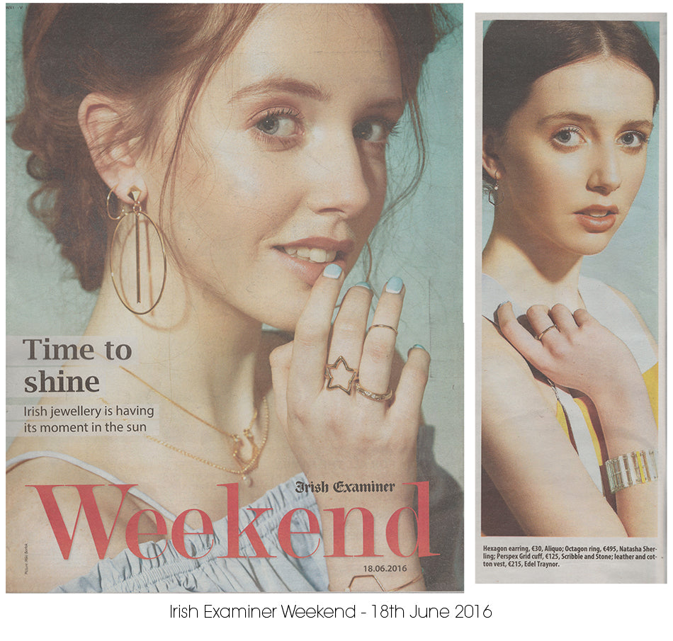 Aliquo Jewellery in Editorial Irish Examiner June 2016