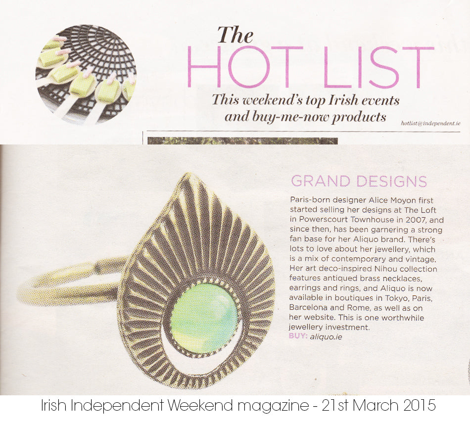 aliquo nihou ring on hot list