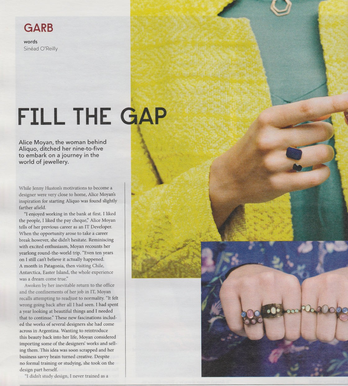 Aliquo Jewellery Designer Totally Dublin Interview page 1