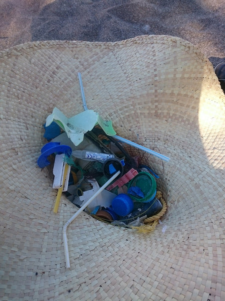 plastic picked up at beach in greece