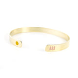 Miami inspired gold plated bracelet