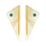 Gold Art Deco statement earrings