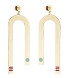 Miami inspired gold earrings