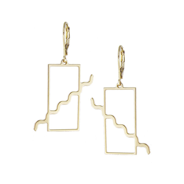 Memphis squiggle earrings