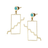 Gold memphis dot and squiggle earrings