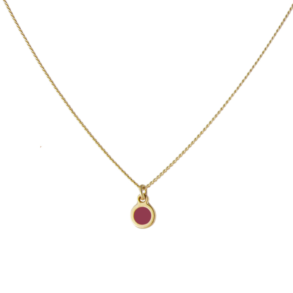 Minimal gold dot necklace