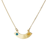Delicate gold pendant necklace