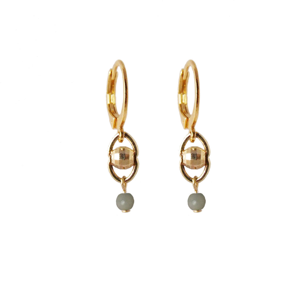 Delicate short gold plated earrings