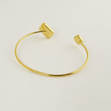 Gold octagons open bangle
