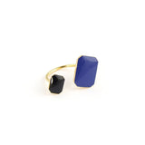 Gold plated two-tone floating ring