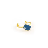 Dainty gold octagon ring with enamel