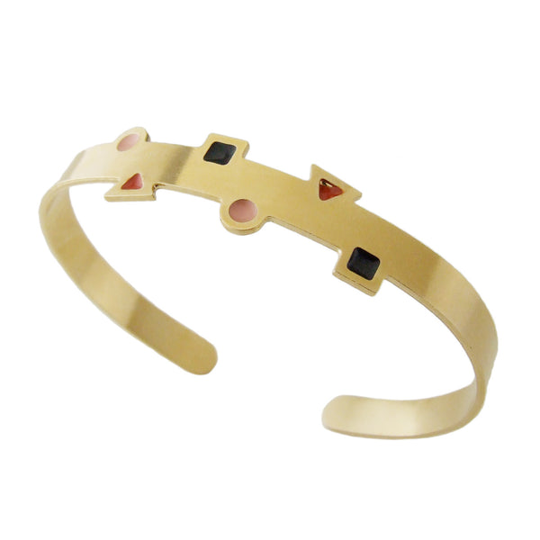 Playful thin gold cuff bracelet