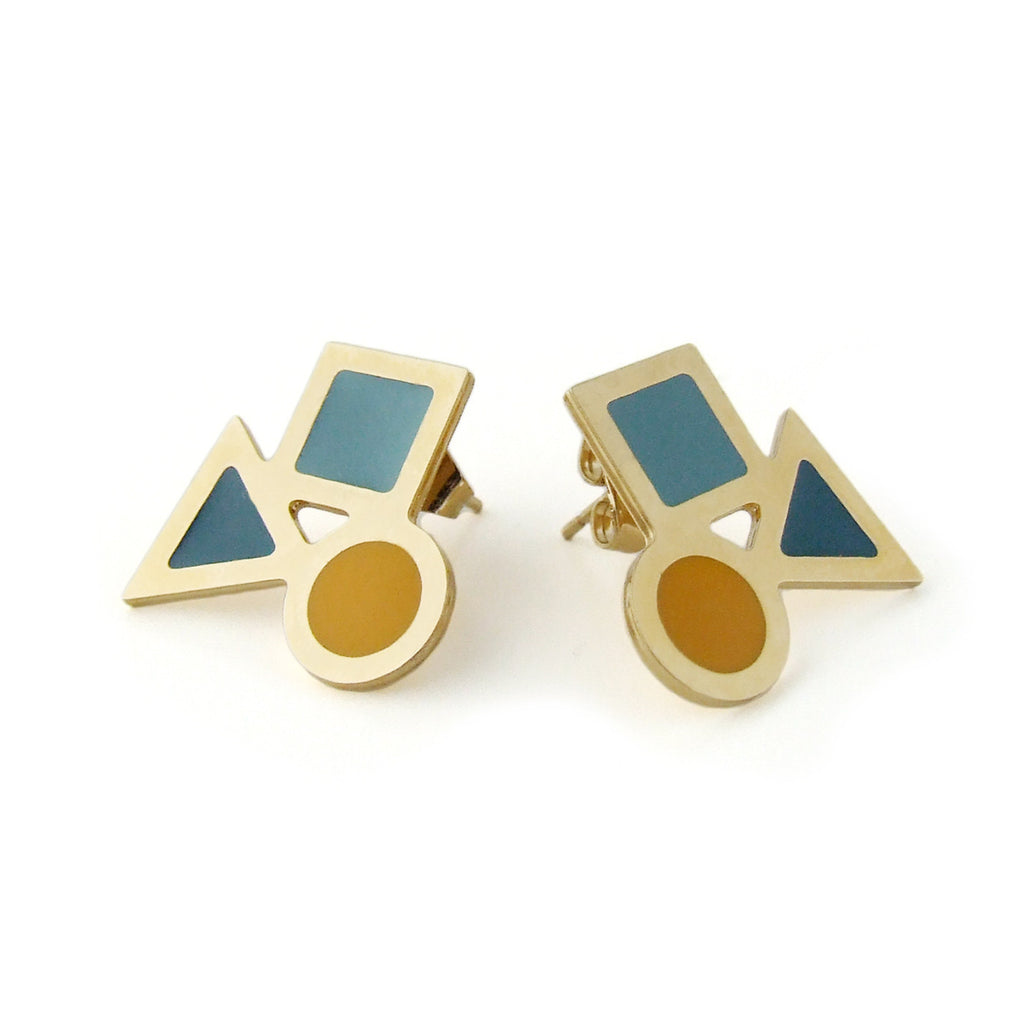 Playtime shapes stud earrings