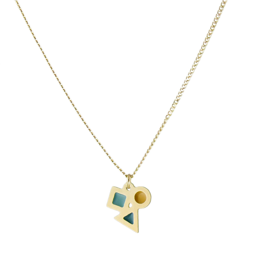 Playtime tiny geometric pendant necklace
