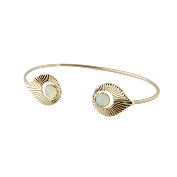 Art Deco inspired open bangle