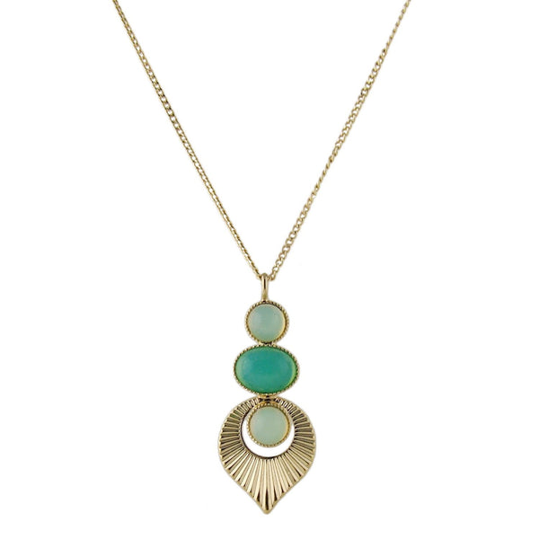 Gold plated Art Deco style pendant necklace