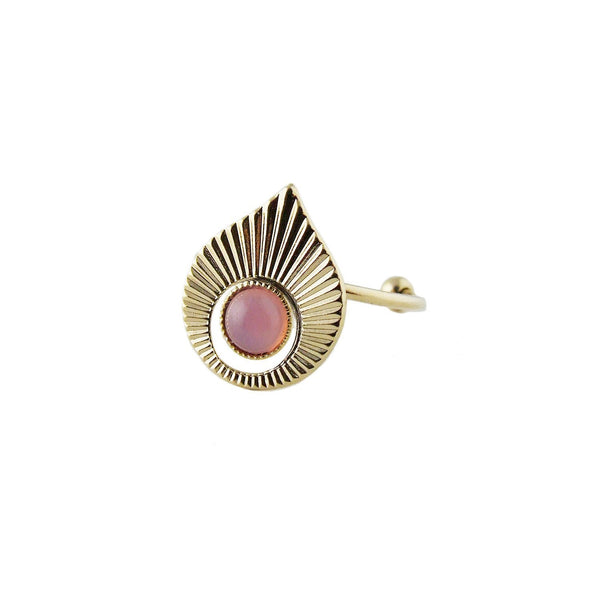Aliquo handmade Art Deco inspired ring in pink