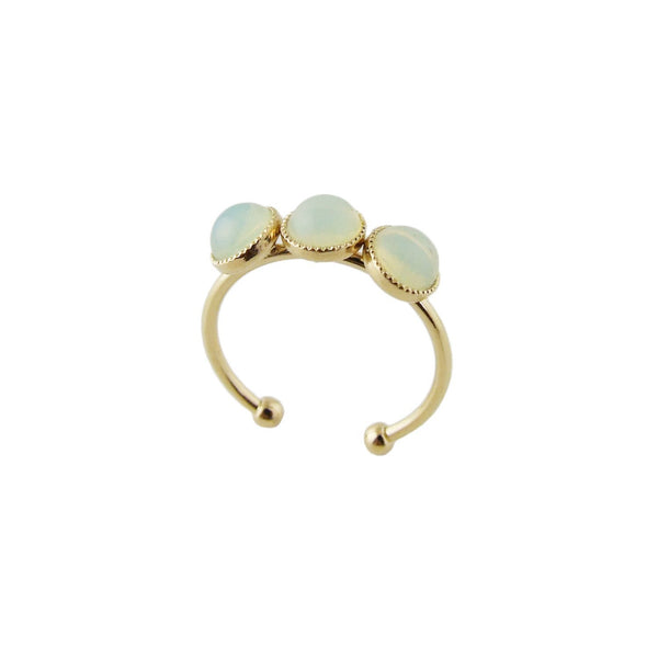Aliquo handmade gold ring in pastel yellow