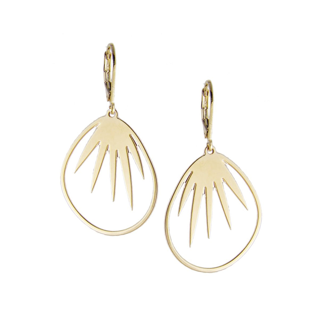 aliquo handmade tropical palm leaf earrings