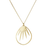 aliquo handmade gold palm leaf necklace