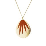 aliquo rust palm leaf necklace