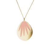 aliquo blush pink palm leaf necklace