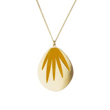 aliquo mustard yellow palm leaf necklace