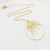 Long palm leaf necklace