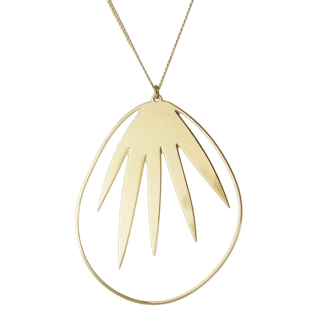 aliquo palm leaf necklace