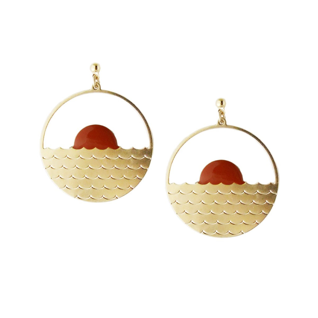 Large sunset earrings