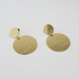 Double circle and waves earrings