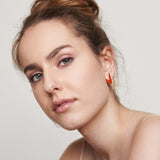 Large sunset stud earrings