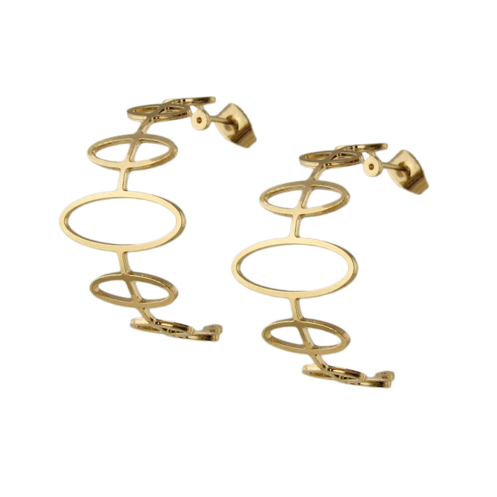 Forbidden Planet gold hoop earrings