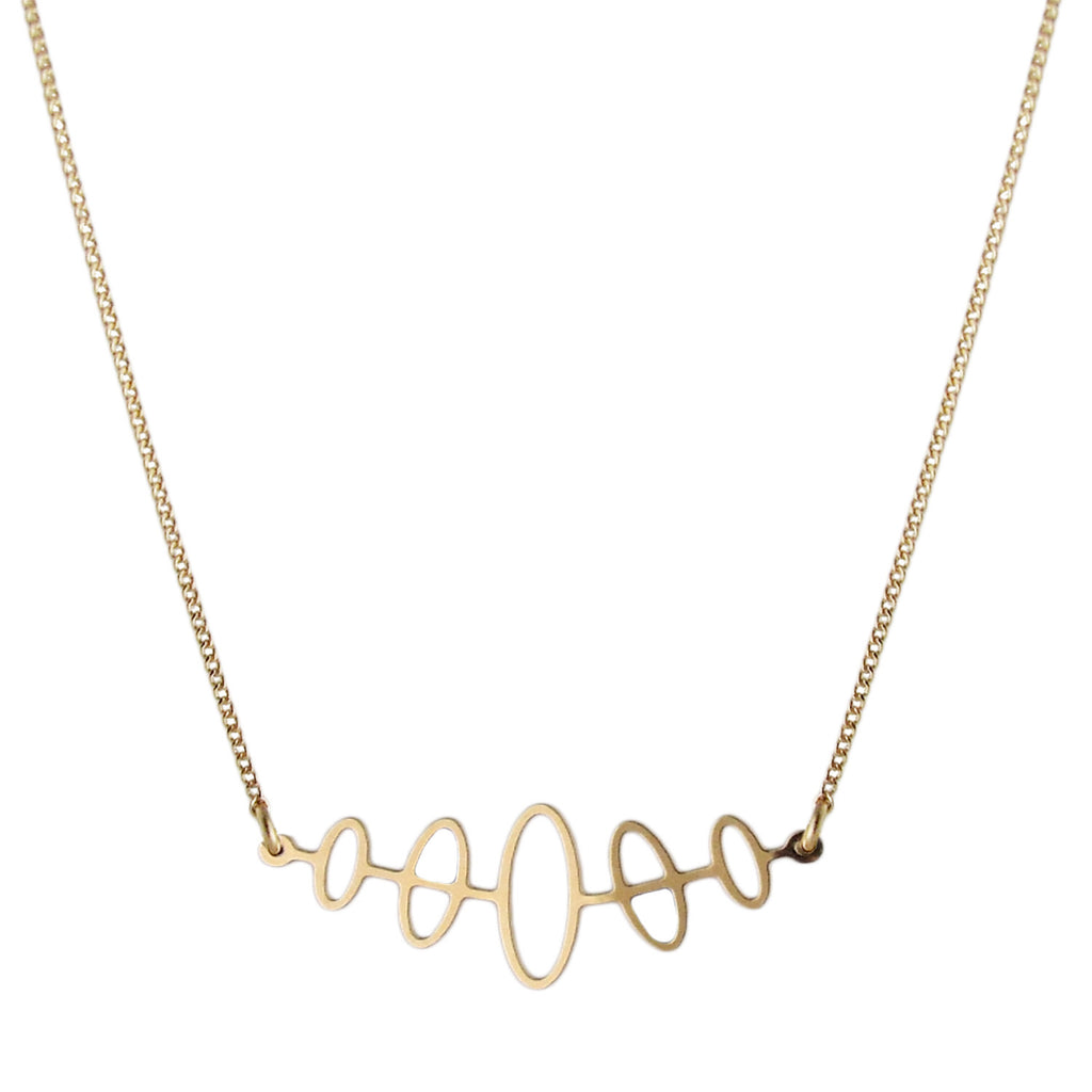 aliquo handmade delicate gold necklace