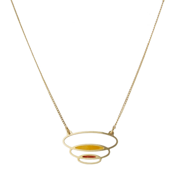 Delicate gold retro inspired necklace