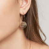 Delicate waves hoop earrings