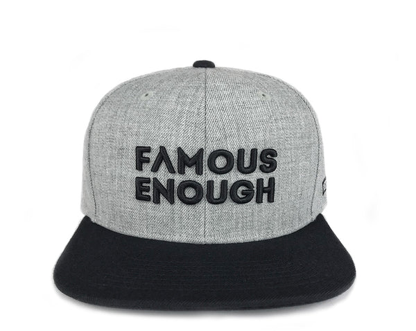 Famous Enough Snapback - Heather Gray/Black