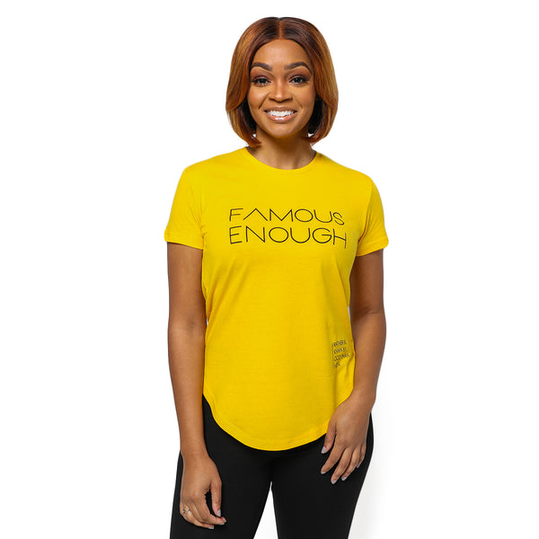 Luxe Swoop Tee - Famous Enough