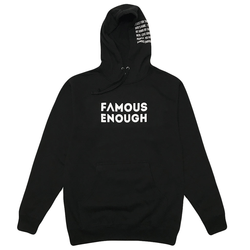 Famous Enough Manifesto - Pullover Hoodie (Black)