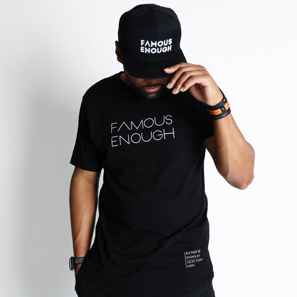 Famous Enough Signature Swoop Tee