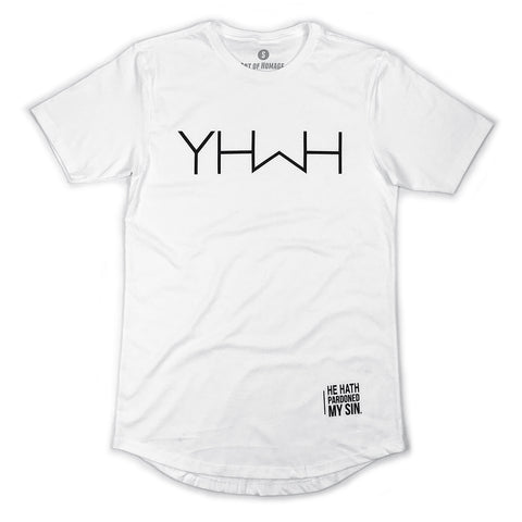 YHWH  Swoop Tee (White)