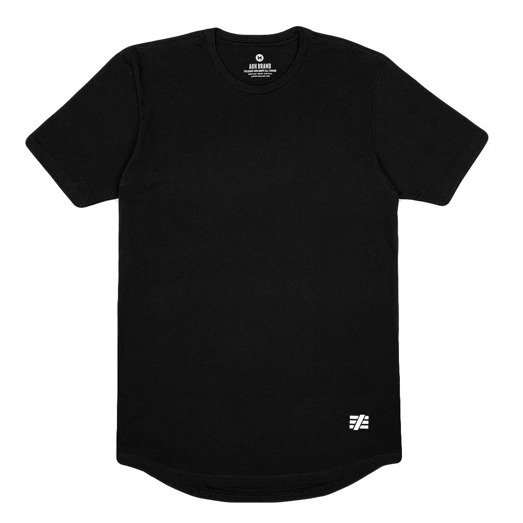 AOH Basic Swoop Tee (Black)