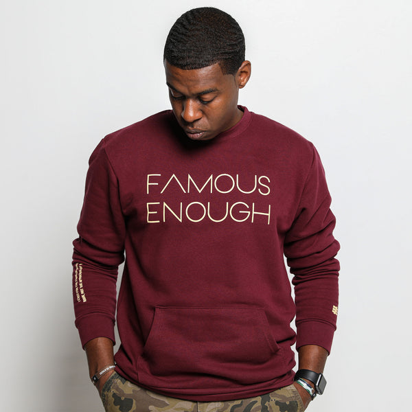 Famous Enough Crimson Sweatshirt
